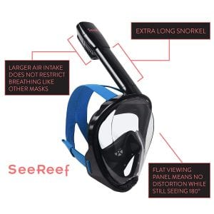 SeeReef Full Face Snorkel-(NEW 2018 DESIGN)