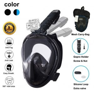 Ufanore Full Face Snorkel Mask for Kids &Adults