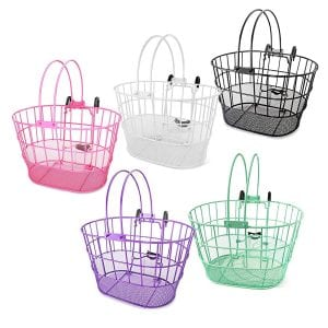 Colorbasket 02270 Lift-Off Bike Basket [Mesh Bottom] with Handles