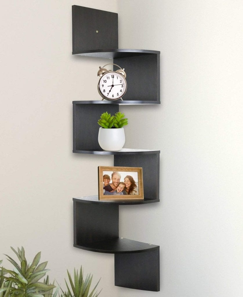 Greenco Wall Mount Corner Shelves