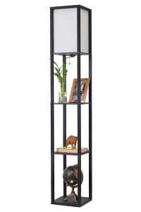 Kira Home Revel Toro Floor Lamp With Shelf