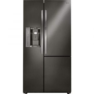 LG LSXC22486D 22 Cu. Ft. Black Stainless Side-by-Side Counter-Depth Refrigerator