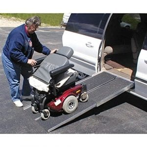 Prairie View Industries Portable Folding Aluminum Wheelchair & Scooter Ramp