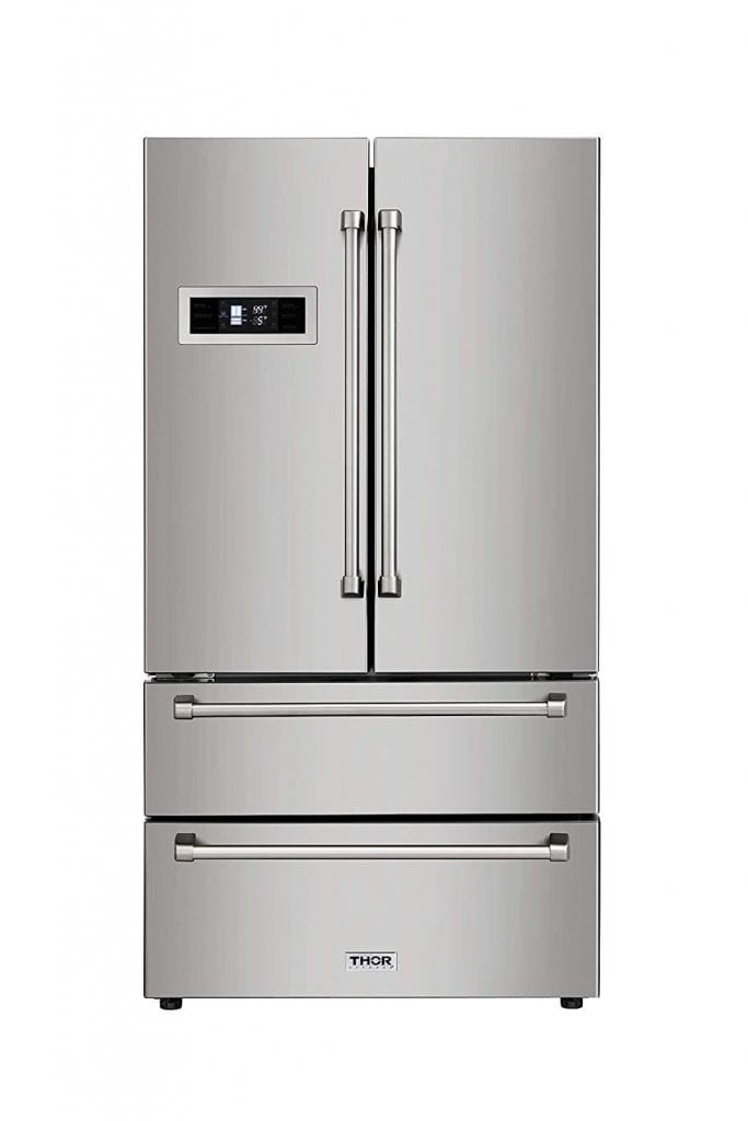Thor Kitchen Automatic Ice-maker, 36inch Refrigerator with Counter-Depth French Door