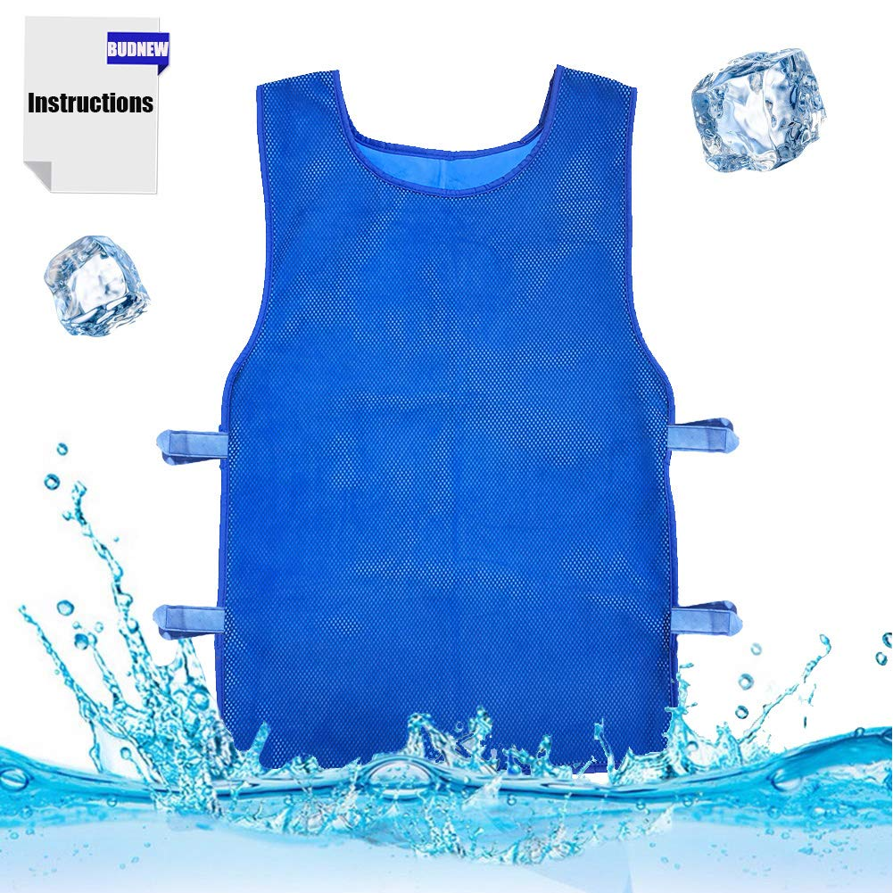 BUDNEW Summer Icy Cooling Vest Heat Resistant Apron