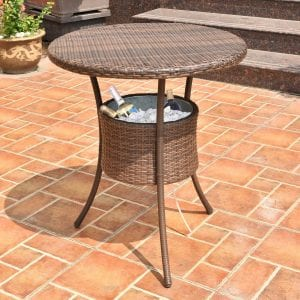 "COSTWAY 31.5"" 7.9-Gal Cool bar Patio Table"