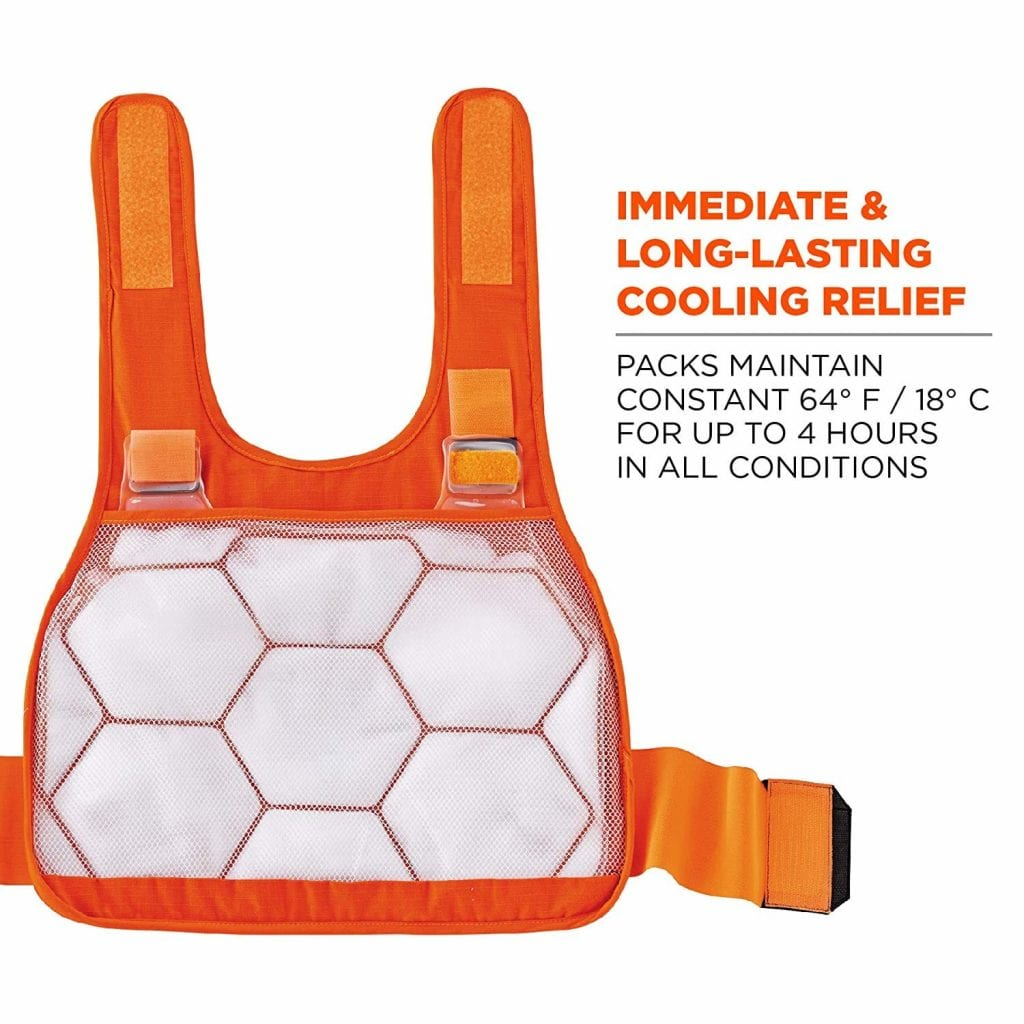 Ergodyne Cooling Vest with 2 Ice Packs