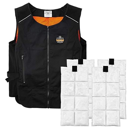 Ergodyne Cooling Vest with 4 Ice Packs