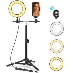 FOXIN 6-inch Selfie Ring Light with Tripod Stand