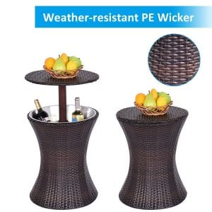 Giantex Outdoor Cool Bar Table
