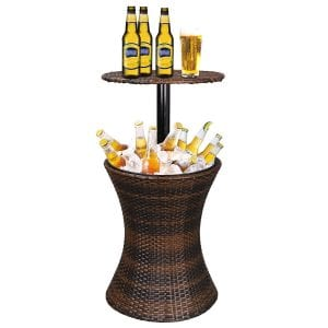 ZENY Cool Bar Rattan Cooler Table