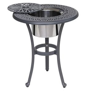 iPatio Athens 22 inch Round Ice Bucket Table