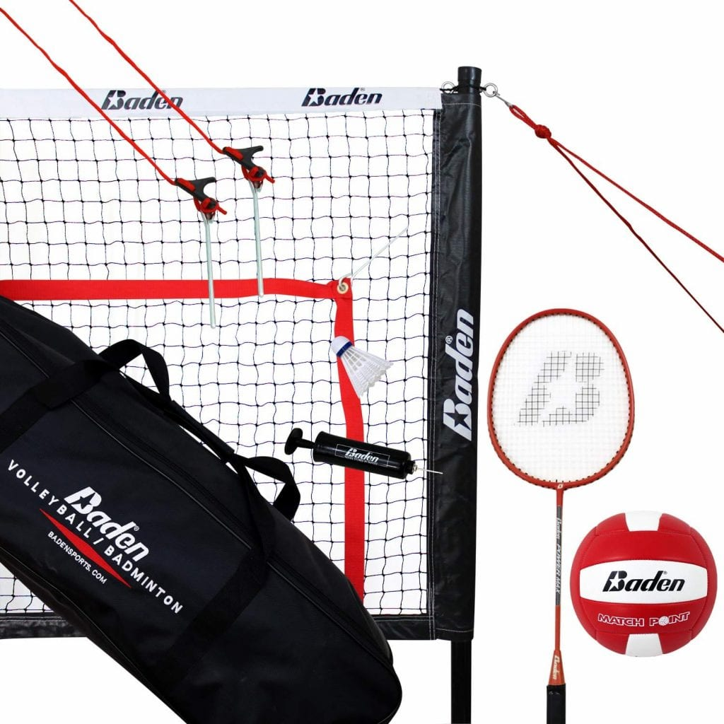 Baden Champions Volleyball Badminton Combo Net Set