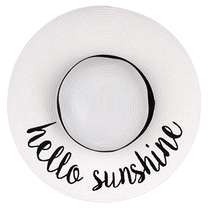By Summer Foldable Floppy Women's Beach Straw Sun Hat