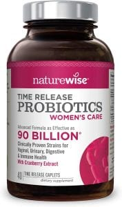 NatureWise Women's Probiotics with D-Mannose and Cranberry