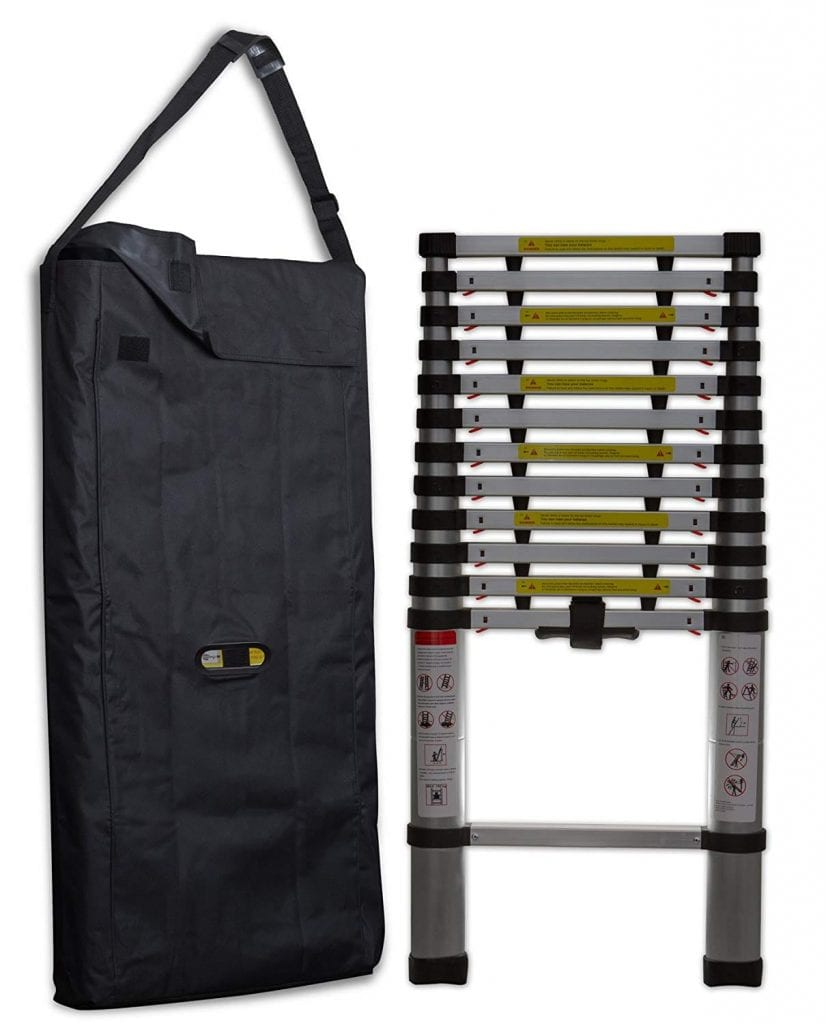 OxGord Aluminum Telescopic Extension Ladder