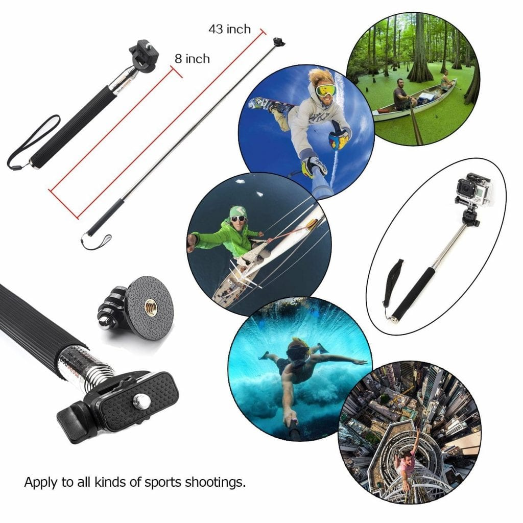 VVHOOY 3 in 1 Universal Waterproof Action Camera Accessories