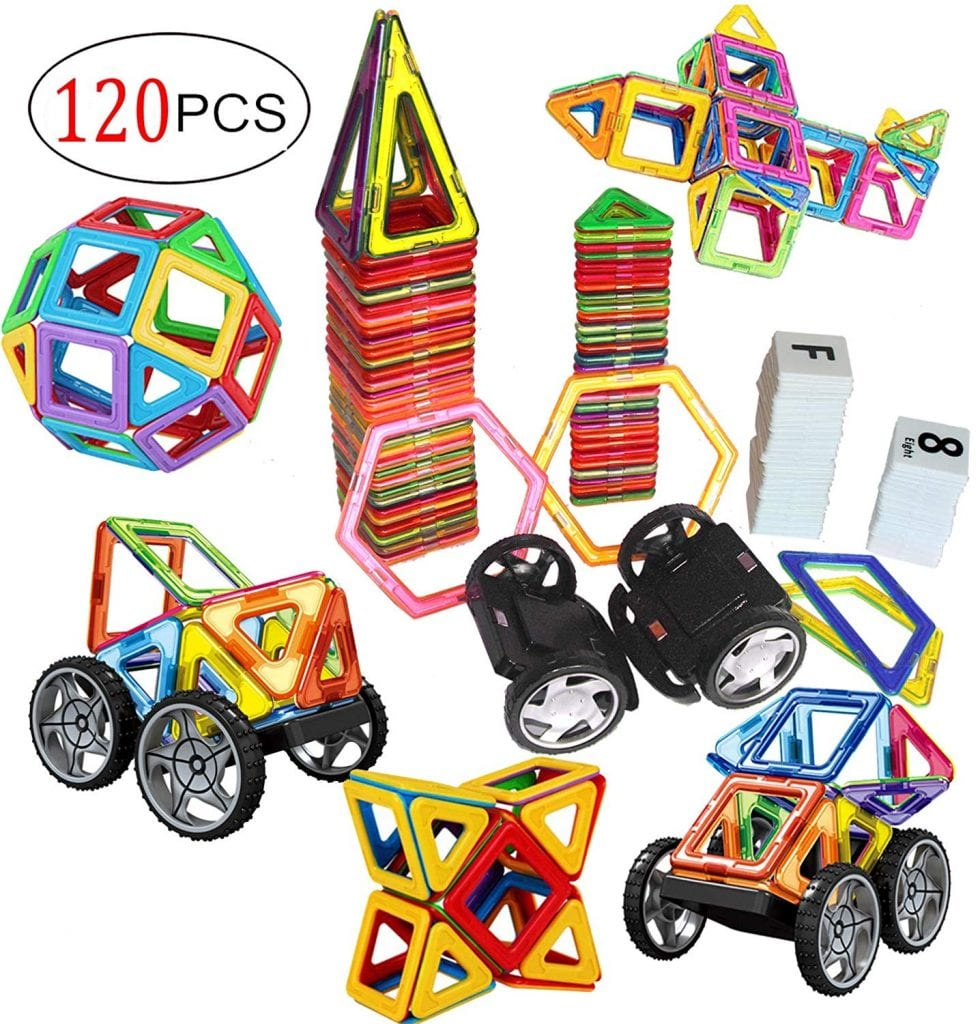 120 PCS Creative Magnetic Building Blocks Set by DreamBuilder