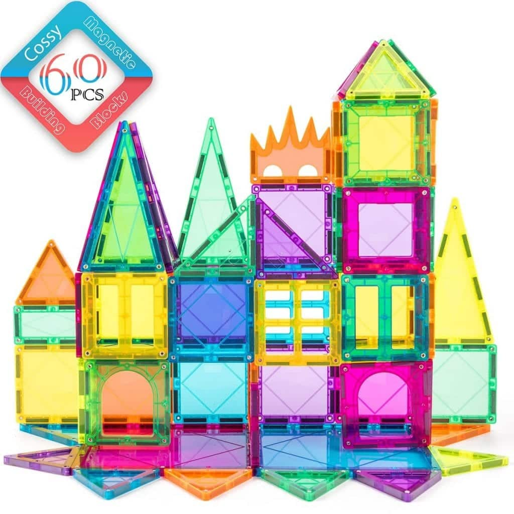 60 Pcs Magnetic 3D Building Blocks Set Educational Construction Toys by Cossy