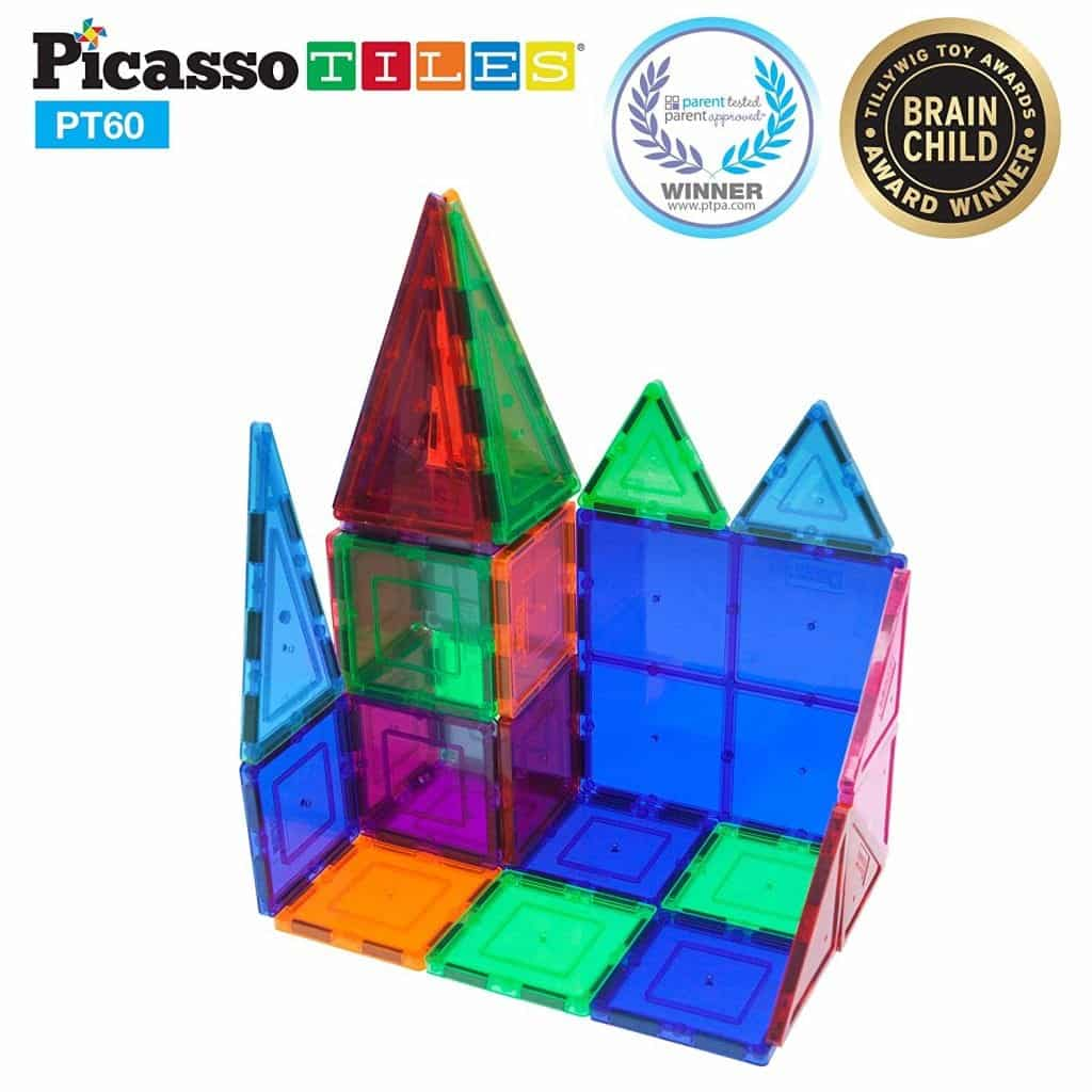 60pcs Magnet Building Tiles by PicassoTiles