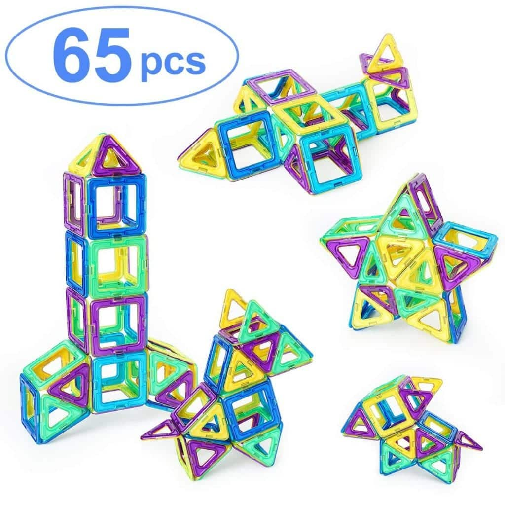 65 Piece Magnetic Building Blocks Set for Kids by Ranphykx
