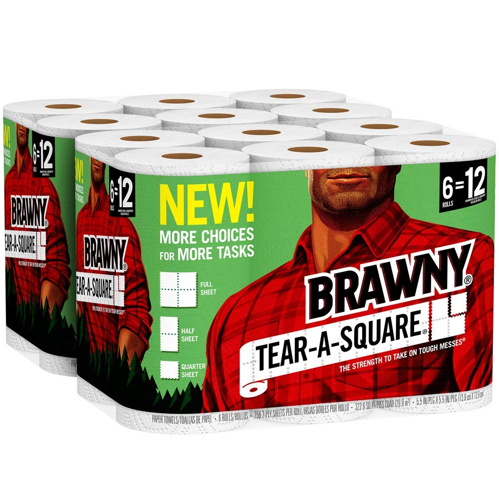 Brawny Tear A Square Paper Towels