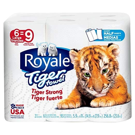 Royals Tiger Paper Towels