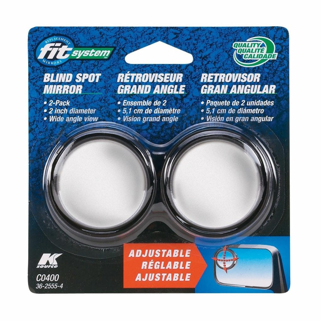 Stick-On Adjustable Blind Spot Mirrors by Fit System
