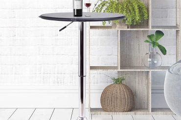 Adjustable Height Round Bar Tables