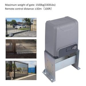 CO-Z Sliding Gate Opener with Wireless Remotes