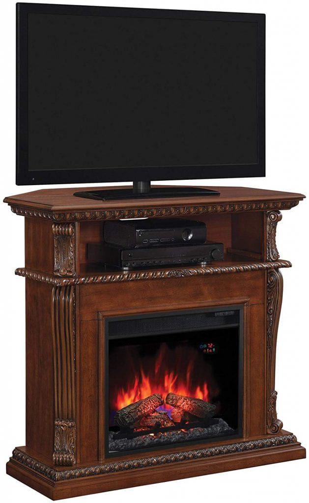 Classic Flame corner TV stand with fireplace