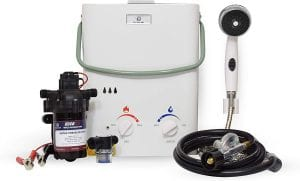 Eccotemp L5 Tankless Water Heater with EccoFlo Pump and Free Strainer