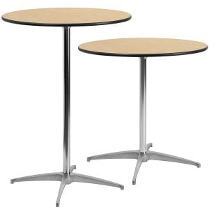 Flash Furniture Round Wood Cocktail Table