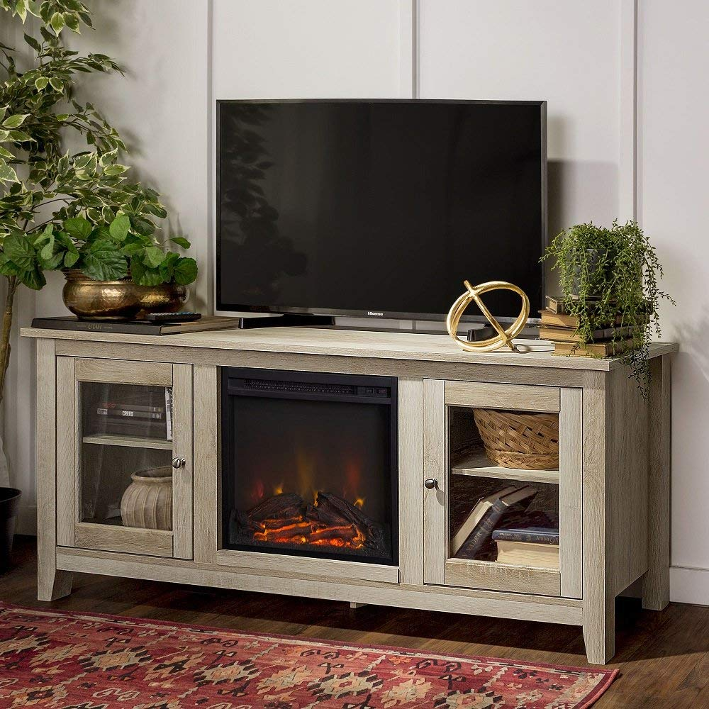 "Home Accent Furnishings58"" fireplace TV stand"