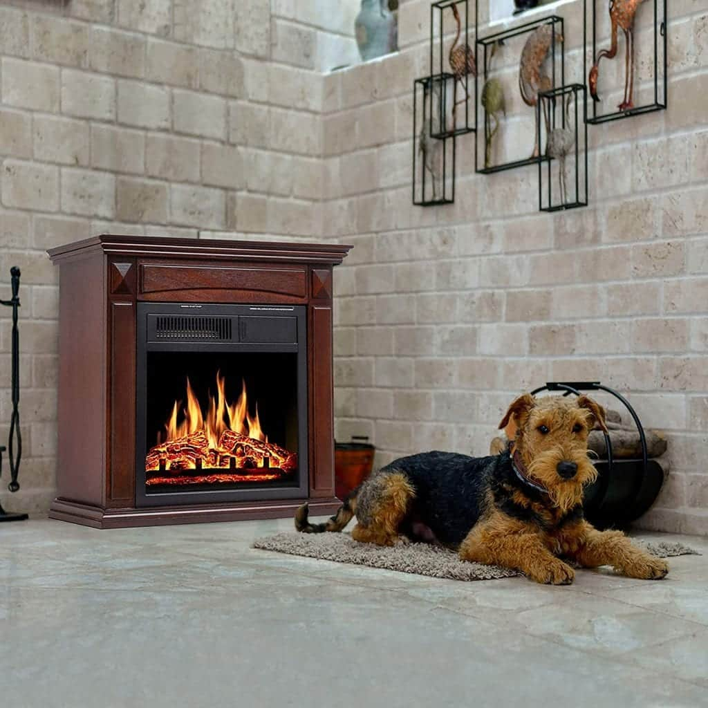 "Jamfly 26"" mantel electric fireplace heater"