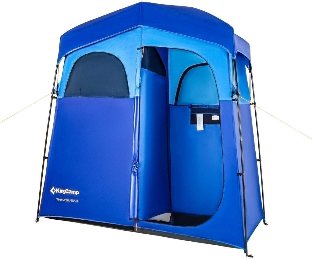 KingCamp 2-Room Shower Privacy Shelter Tent with Rain Fly