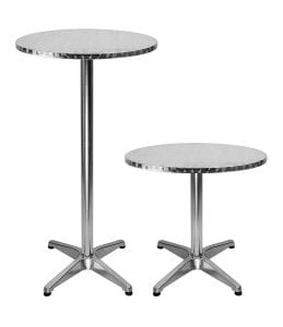 LXDUR Aluminium Round Bistro Patio Bar Table