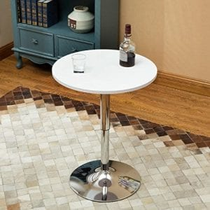 PULUOMIS 35 Inches Height Round Bar Table Adjustable