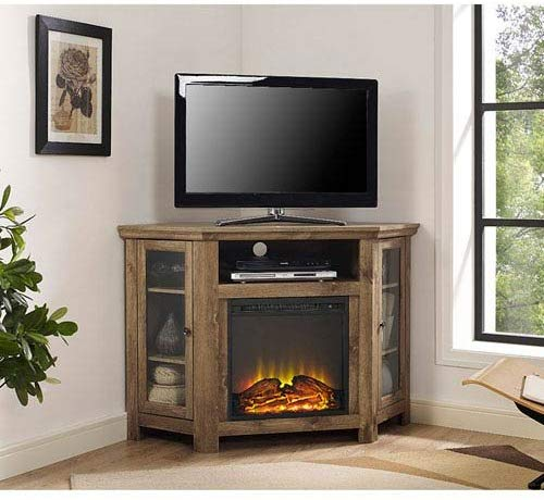 Walker Designs Wood Corner Media TV Stand