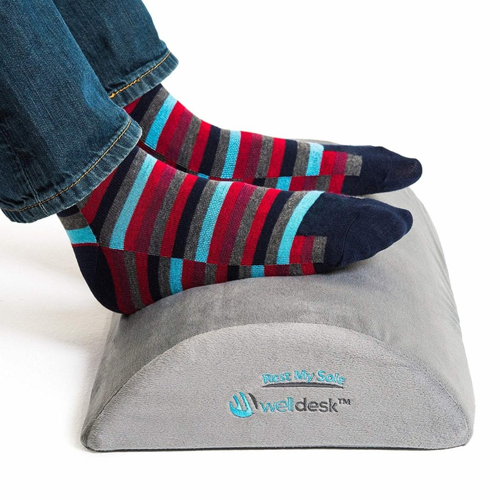 Well Desk Rest My Sole - Foot Rest Cushion for Under Desk