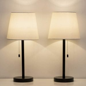 HAITRAL Bedside Table Lamps – Set of 2