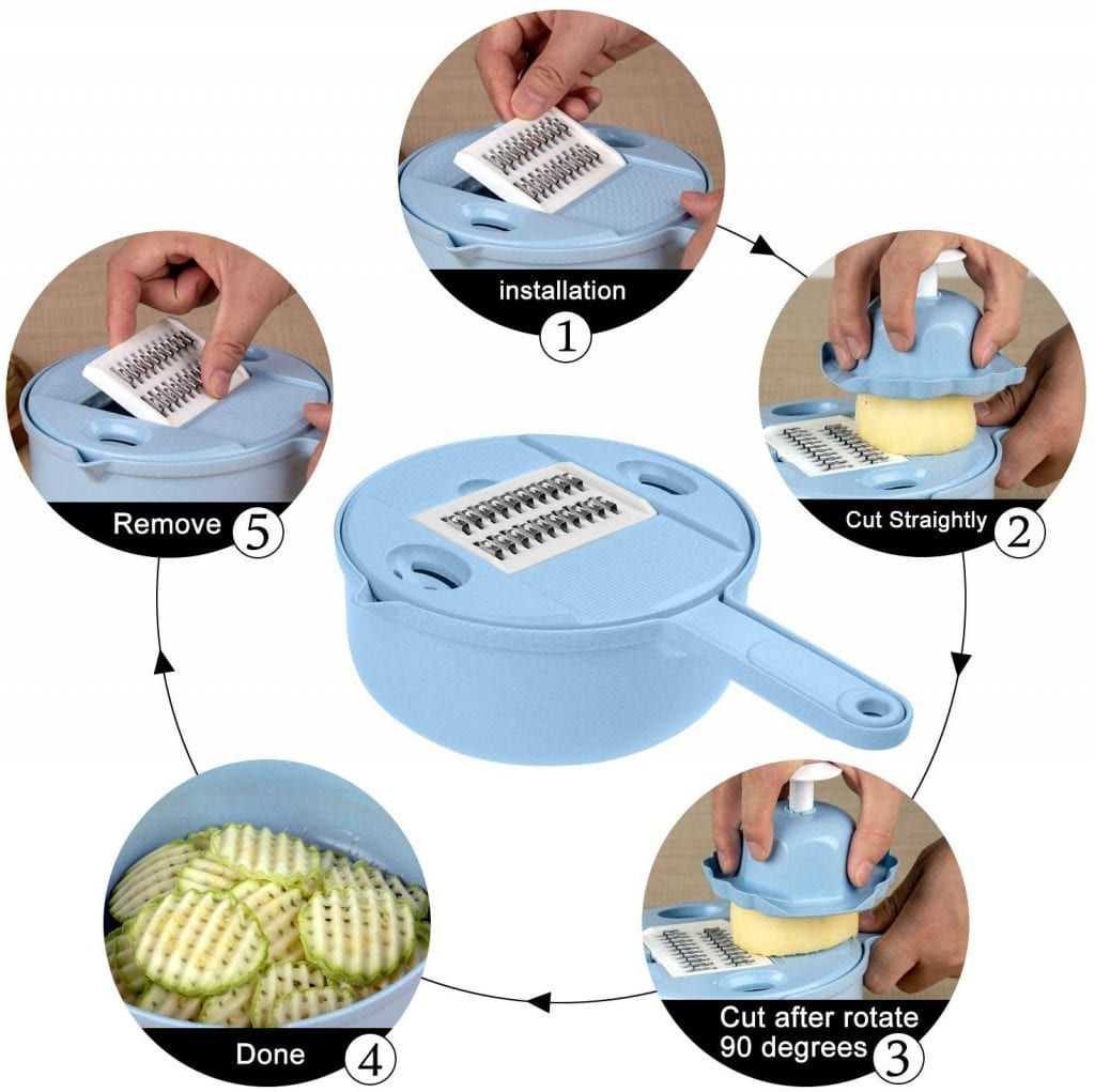 Jeslon 10-in-1 Vegetable Mandoline Slicer