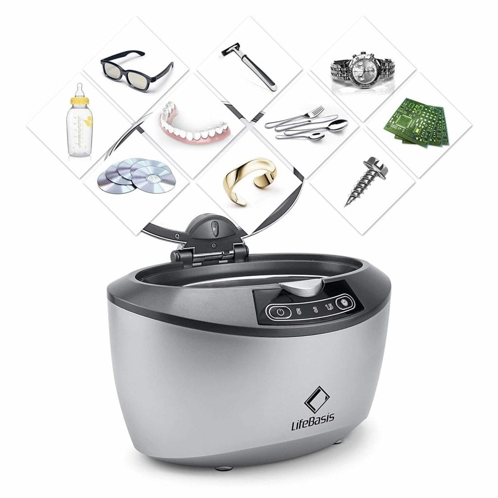 Life Basis Professional Ultrasonic Cleaner for Home