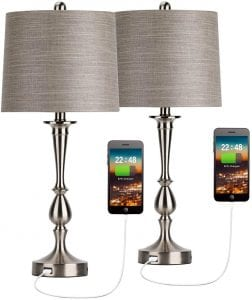 Oneach USB Bedside Table Lamp