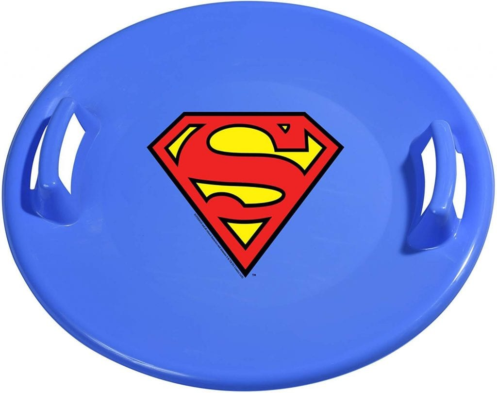 Superman Pro Saucer Snow Sled by Slippery Racer