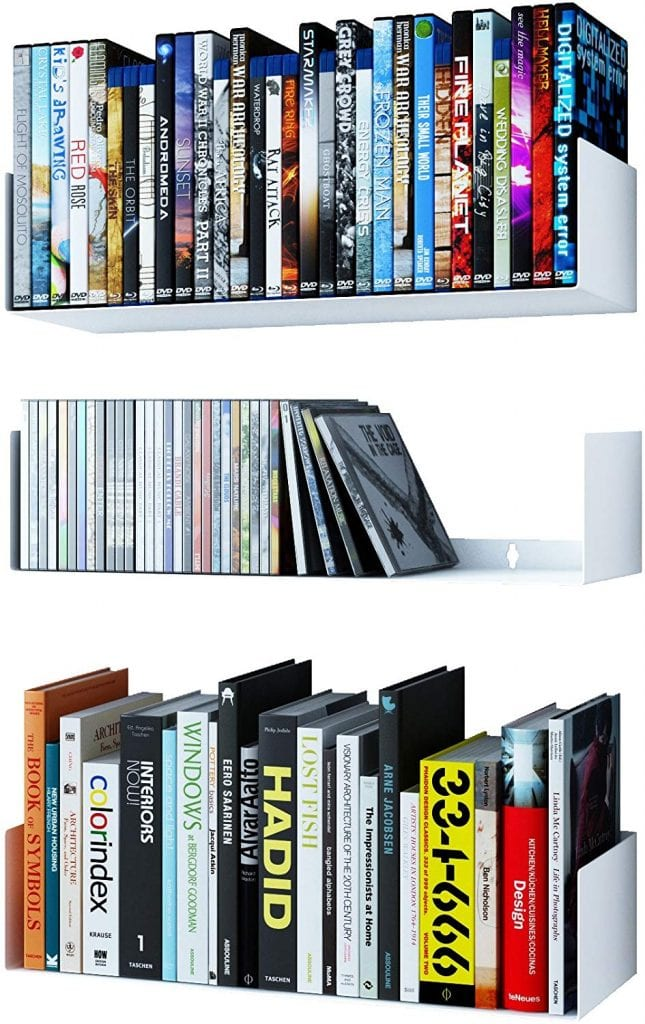 Wallniture Bali U Shape Bookshelves