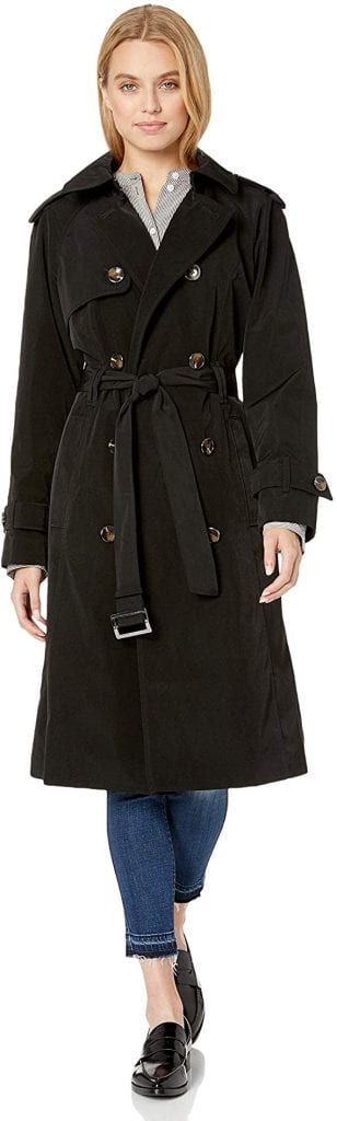 London Fog Women's Midi-Length Trench Coat