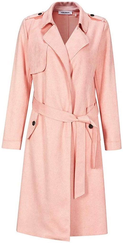 NOBLEMOON Women's Lapel Trench Coat