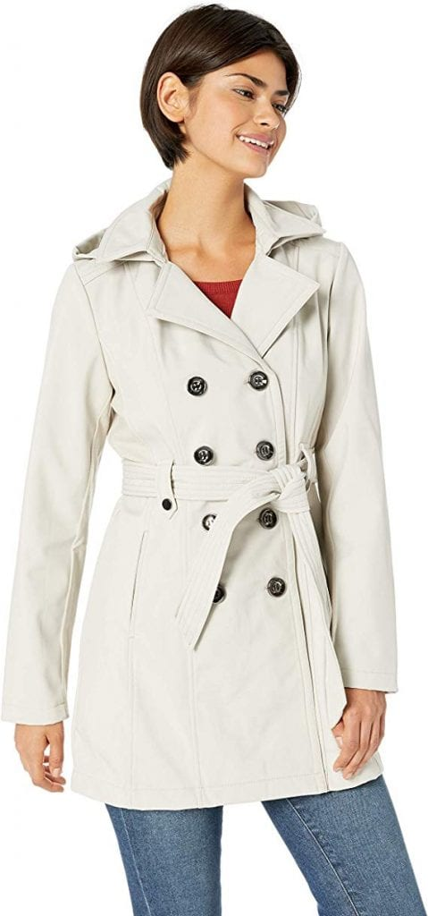 Sebby Collection Women's Soft Shell Trench Coat