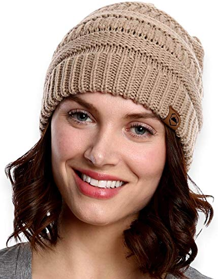 Women's Cable Knit Beanie by Tough Headwear